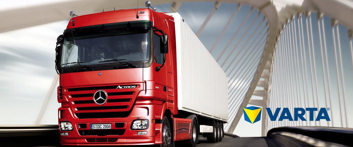 baterie pro nákladní automobily